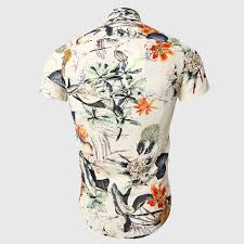 Hawaii travel shirts images Buy men travel floral shirt hawaii mandarin jpg