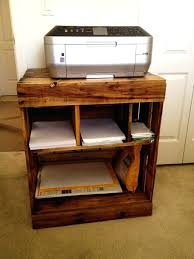 Small Computer Printer Table Desk Prev Compact Computer Desk With Printer Shelf Home Office
