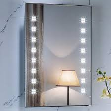 battery operated mirror lights light up bathroom mirrors lighting luxury lighted wall mirror