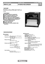 rm10c ph recorder ohkura electric pdf catalogue technical