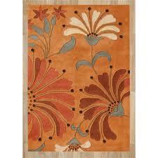 Handmade Wool Rug Alliyah Rugs 26008 Handmade New Zealand Blend Wool Rug In Orange