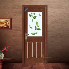 Door Pattern Trendy Bathroom Door Ideas With Wooden Pattern Floor And Leaves On