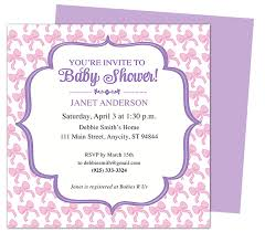 baby shower invitation template word ba shower invitation template