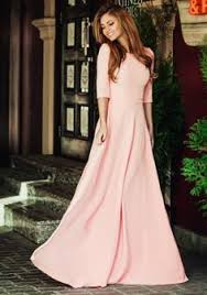 online shopping 2017 cheap modest coral pink long prom dresses