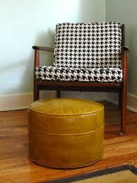 Mustard Yellow Ottoman Vintage Mustard Yellow Vinyl Ottoman Essentials Furniture