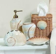 themed bathroom decor ideas bathroom seashell decor
