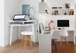 petit bureau angle bureau d angle elleck blanc brillant vue 1 aménagement