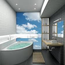 50 small bathroom decoration ideas u2013 photo wallpaper as wall decor