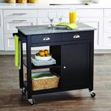 kitchen islands with granite top better homes and gardens kitchen cart black granite top walmart
