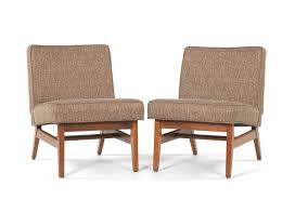 Slipper Chairs Pair Of Slipper Chairs Ca 1960 U0027s In The Manner Of Jens Risom