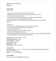 Developer Resume Sample by Sample Android Developer Resume 6 Free Documents In Pdf