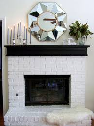 fireplace with painted black mantel fireplace mantel mantels