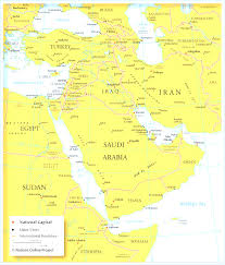 Map Quiz Middle East by Map Of Countries In Western Asia And The Middle East At South