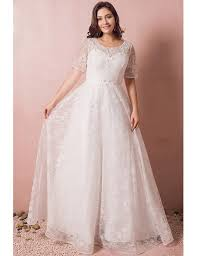 cheap plus size wedding dress modest lace sleeve plus size wedding dress with beading for