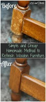 how to clean wood table with vinegar simple and cheap homemade method to refinish wooden furniture