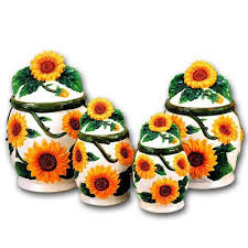sunflower canister sets kitchen 171 best sunflower themed kitchen images on sunflower