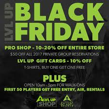black friday deals on gift cards lvl up black friday open play u0026 deals announced lvl up sports