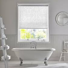style studio clara snowdrop roller blind spring interiors white