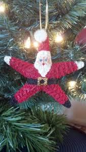 painted santa starfish a jolly