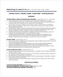 sample personal trainer resume 9 examples in word pdf