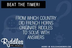 30 from which country did horns originate riddles with