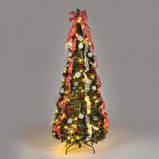 pop up tree 6ft pre lit pop up decorated led christmas tree