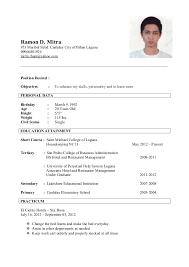Sample Resume For Housekeeping by Ramon Mitra Resume