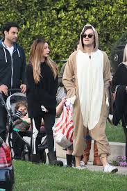 tisdale with christopher french at trick or treating on halloween