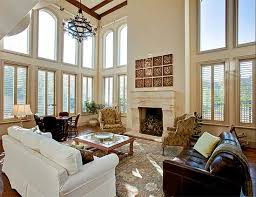Plan TX Spectacular TwoStory Family Room Room Arch - Two story family room