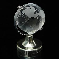 world globe crystal glass clear paperweight wedding favor home