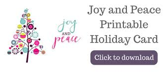 joy and peace free printable holiday cards