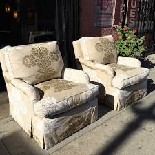 Linen Club Chair Sold Just Right Pair Of Custom Made Linen Club Chairs U2014 Casa