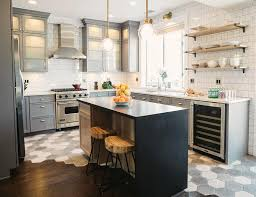 Gray Kitchen Cabinets Benjamin Moore by Fabulous Gray Kitchen Features Gray Cabinets Painted Benjamin