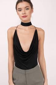 cute black bodysuit cowl neck bodysuit black bodysuit 50