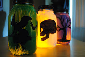 Mason Jar Halloween Lantern Halloween Silhouette Lanterns Page Turners Hollow