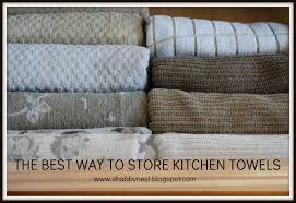 the shabby nest the best way to store kitchen towels