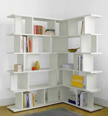 Bookshelves For Sale Ikea by Furniture Exciting White Corner Bookshelf With Cozy Silver Ikea