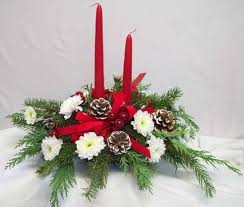 christmas flower arrangements for table christmas flower table