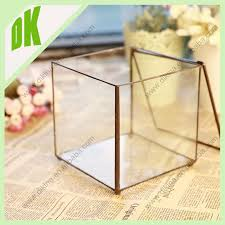 Clear Glass Vases With Lids Cute Clear Glass Round With 1 Hole And Lid Flower Plant Hanging