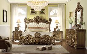 Pc Romanesque II Renaissance Style King Bedroom Set With Tufted - Master bedroom sets california king