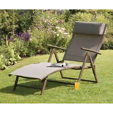 Garden Recliner Cushions Garden Reclining Sunlounger Folding Relaxer Chair Patio Sun Lounger