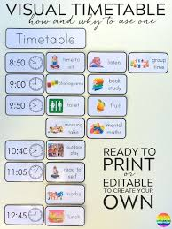 25 visual schedule printable ideas visual