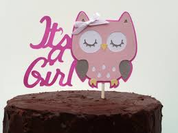 owl themed baby shower decorations owl baby shower decorations it s a girl owl cake topper