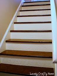 textured wallpaper for stair risers also check out their paper