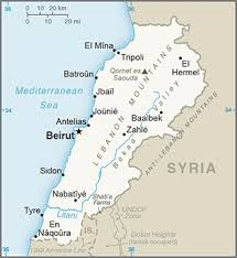 lebanon on the map the world factbook central intelligence agency
