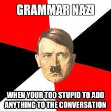 Grammer Nazi Meme - grammar nazis picture ebaum s world