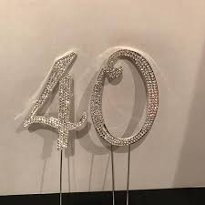 40 cake topper best real rhinestone 40 cake topper for sale in griffin