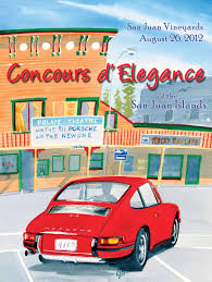porsche poster concours d u0027elegance of the san juan islands