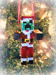 diy minecraft creeper santa ornament kerryannmorgan