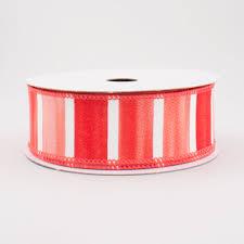 wide ribbon 1 5 watercolor wide stripe ribbon salmon white 10 yards